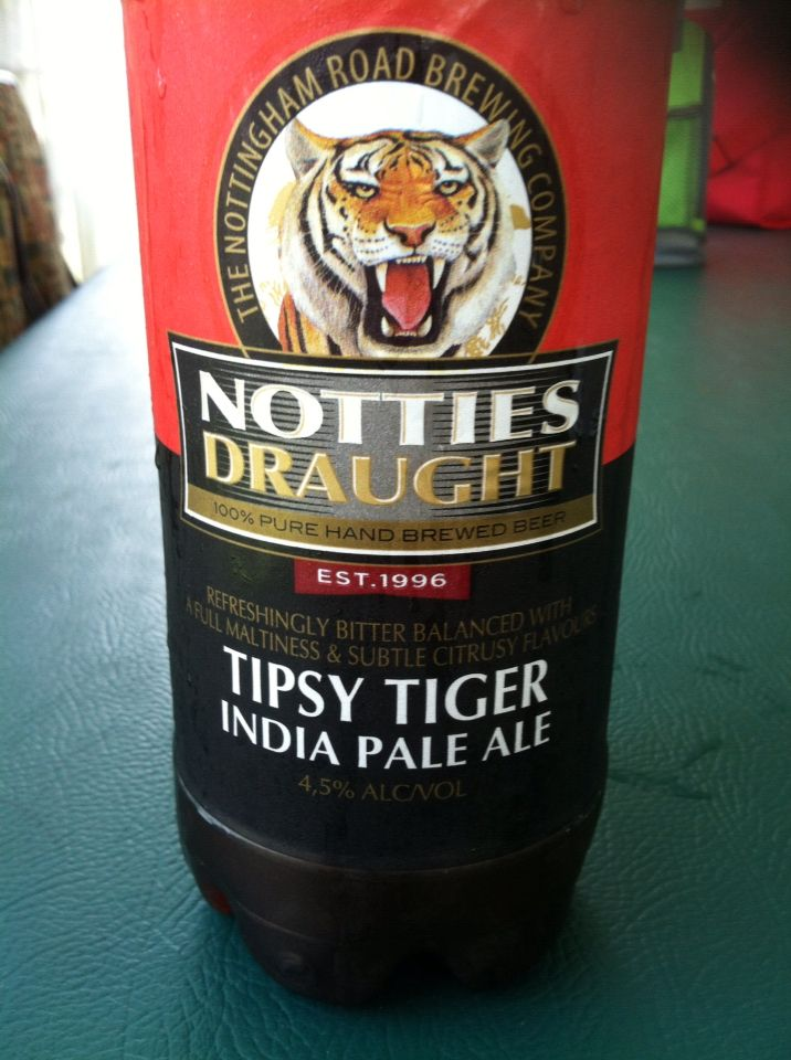 Tipsey tiger by Nottingham road brewery