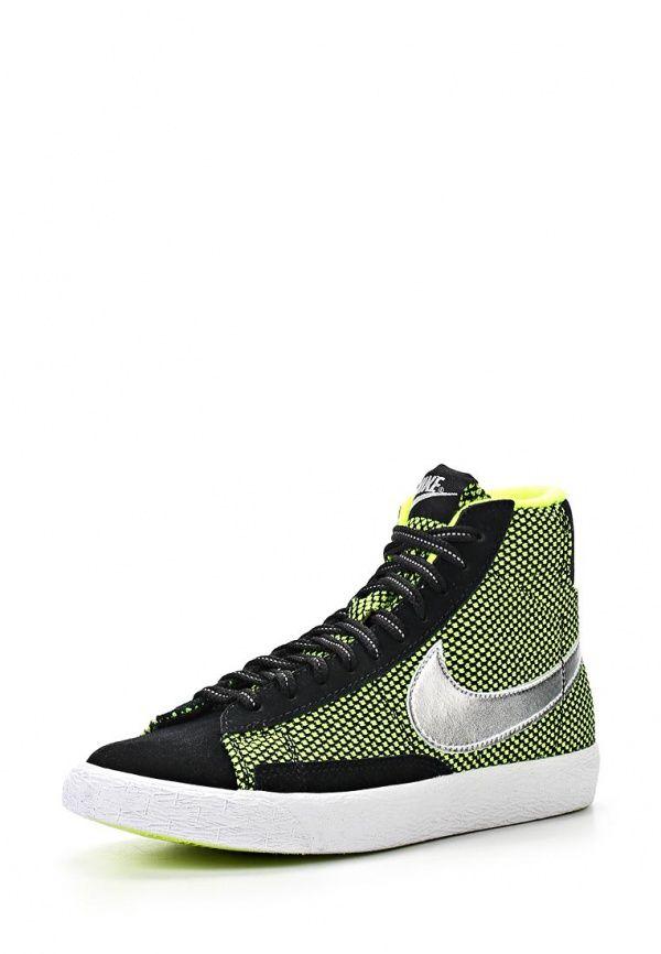 Кроссовки Nike / Найк для мальчиков. Цвет: зеленый, черный. Материал: спилок, текстиль. Сезон: Весна-лето 2014. С бесплатной доставкой и примеркой на Lamoda. http://j.mp/1mZ2RkO
