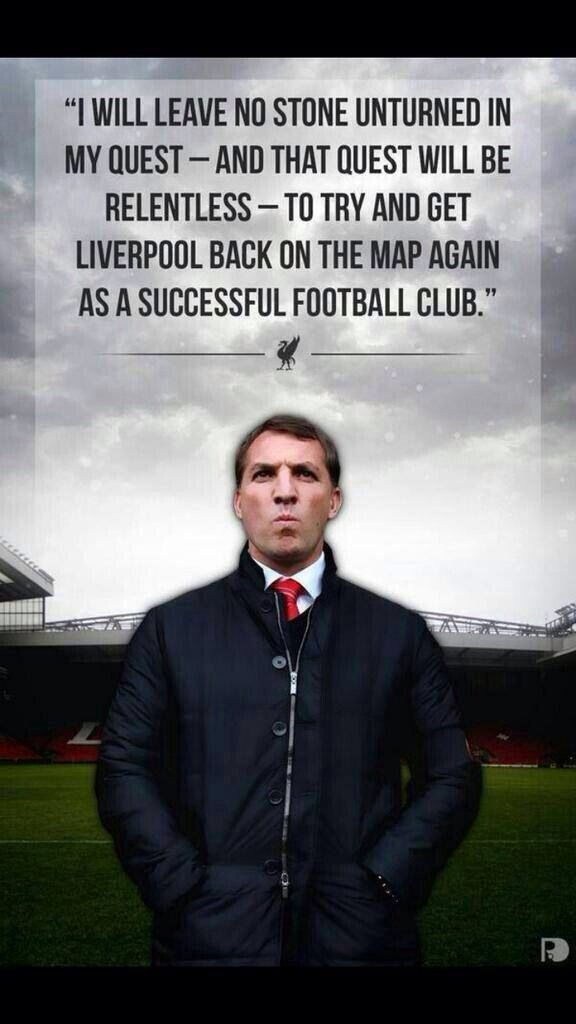 The gaffer of LFC Brendan Rodgers