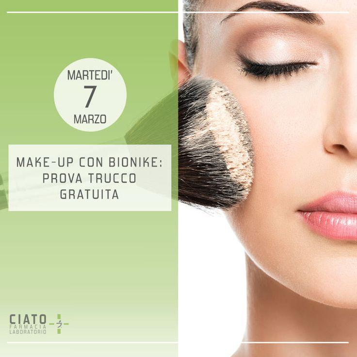 Farmacia Ciato - Viso perfetto con Bionike: un truccatore professionista sarà presente in Farmacia Ciato per eseguire un make-up completamente gratuito con i prodotti Bionike. È necessario l'appuntamento. #farmaciaciato #farmacia #padova #eventi