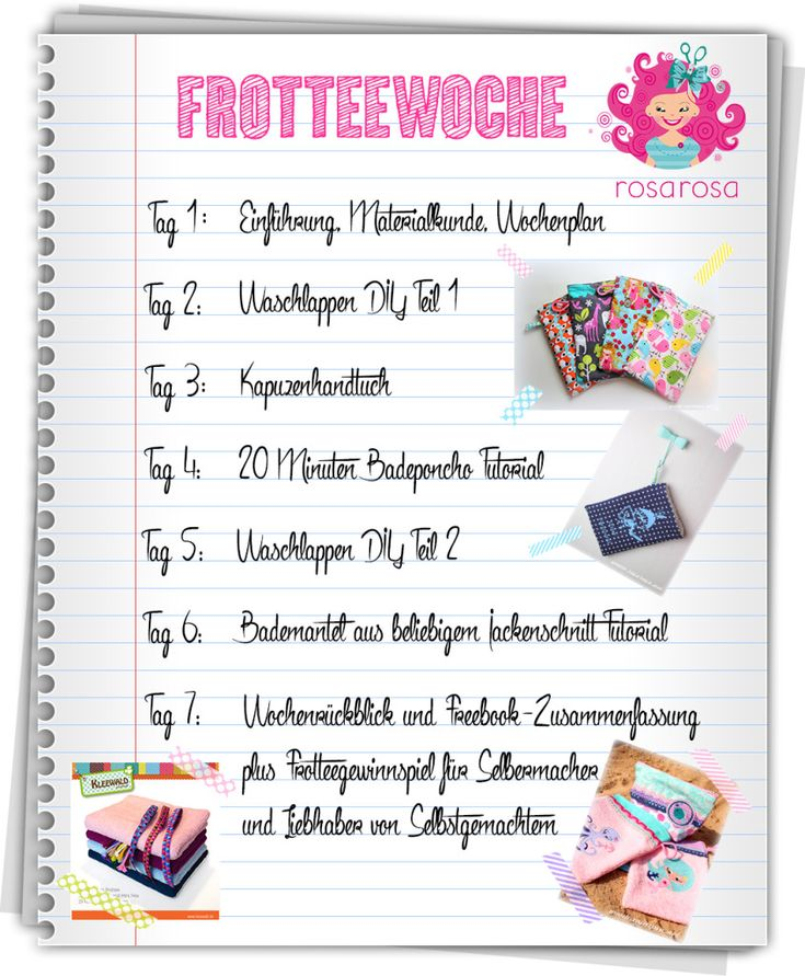 Frotteewoche Tag 3 - Kapuzenhandtuch Tutorial
