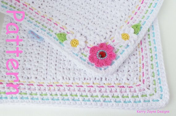 CROCHET PATTERN NO.13A  This is a crochet blanket pattern (not actual item) Level - Easy/Advanced beginner ***STEP BY STEP PHOTO TUTORIAL***