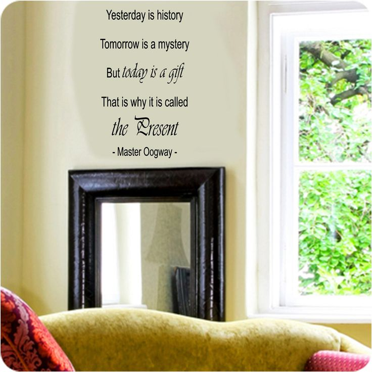 Today is a gift Vinyl Wall Art Decals. Prices From £7.49. Free UK P&P. Choice of Colour & Size. We Accept Paypal