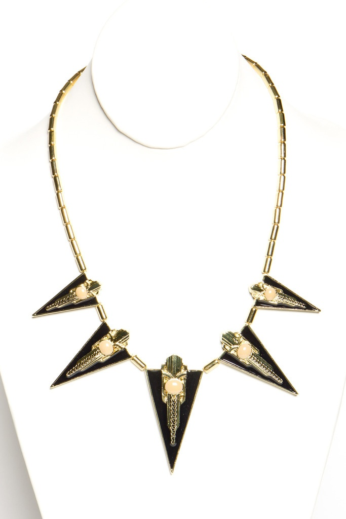 Deco Point Necklace  --  Looks like something that Apollo would wear...