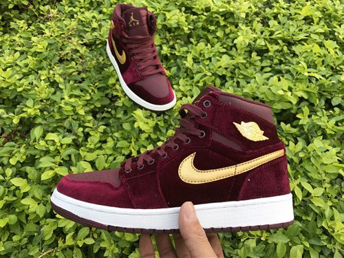 7e3958a5700 Nike Air Jordan 1 RETRO GS Velvet Heiress Women Shoes AAA