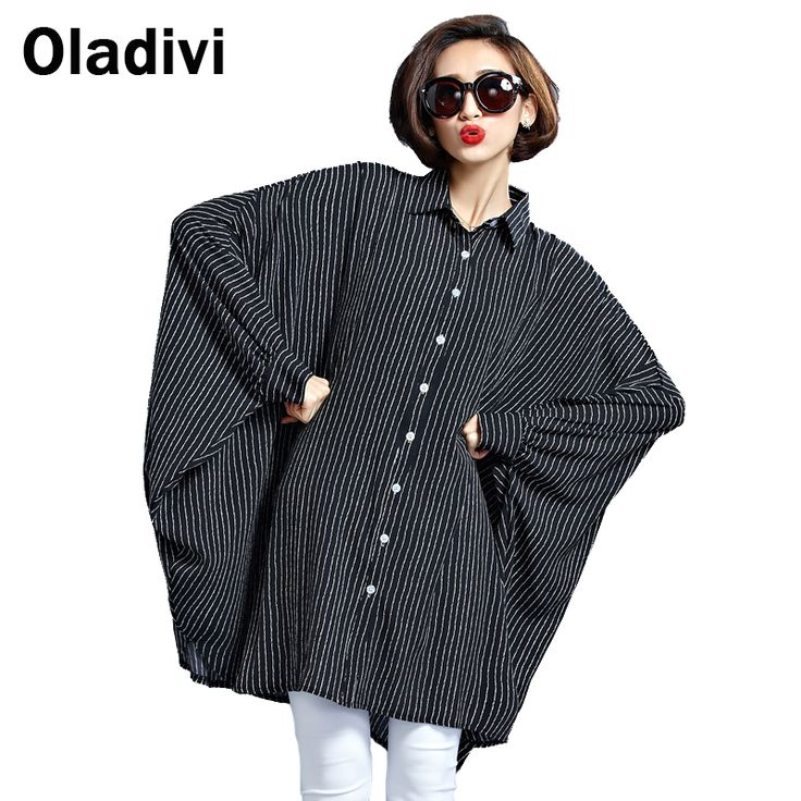 Large Big Sizes 10XL 9XL 8XL 7XL 6XL 5XL 4XL Striped Loose Blouse 2017 Fashion Women Casual Shirt Tops Tunics Plus Size Clothing