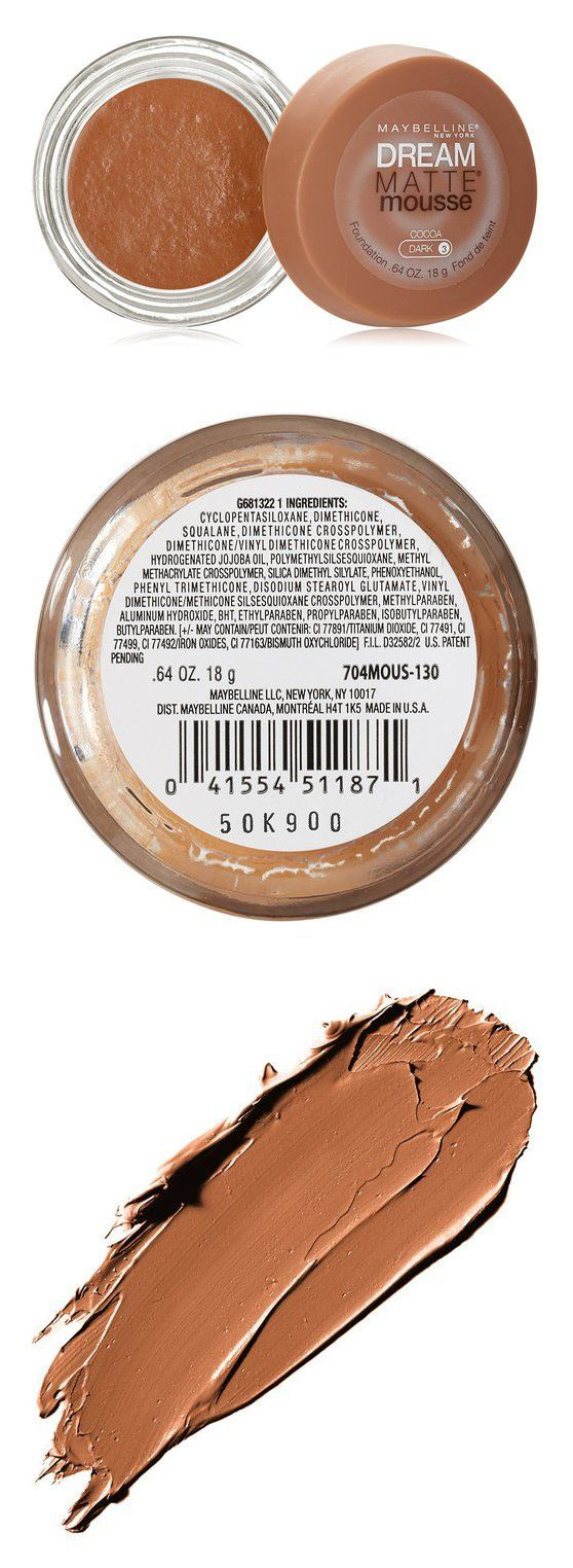 Maybelline New York Dream Matte Mousse Foundation, Cocoa #beauty #abis_drugstore #maybellinenewyork #foundation #face #makeup #products