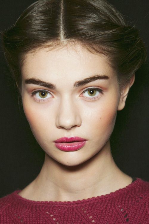 soft + pretty Bronze peach cheeks, rose gold shadow. Rasberry lipstick or stain…