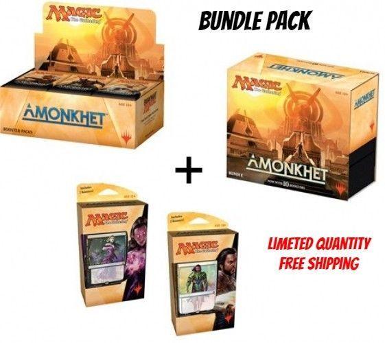 Magic Amonkhet Booster Box + Bundle + Both Planeswalker Decks! MTG Variety Pack  #MagictheGathering