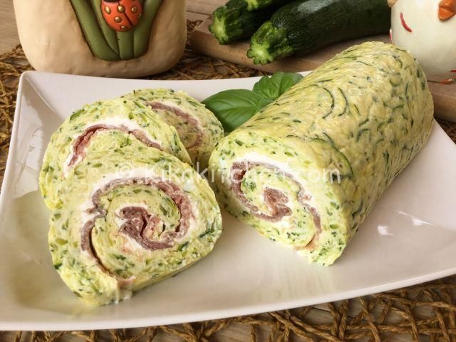 Rotolo di zucchine con bresaola e philadelphia | Kikakitchen