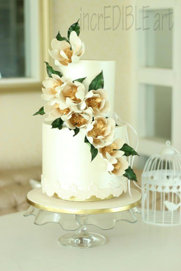Enchant- Wedding cake by Rumana Jaseel …See the cake: http://cakesdecor.com/cakes/215106-enchant-wedding-cake