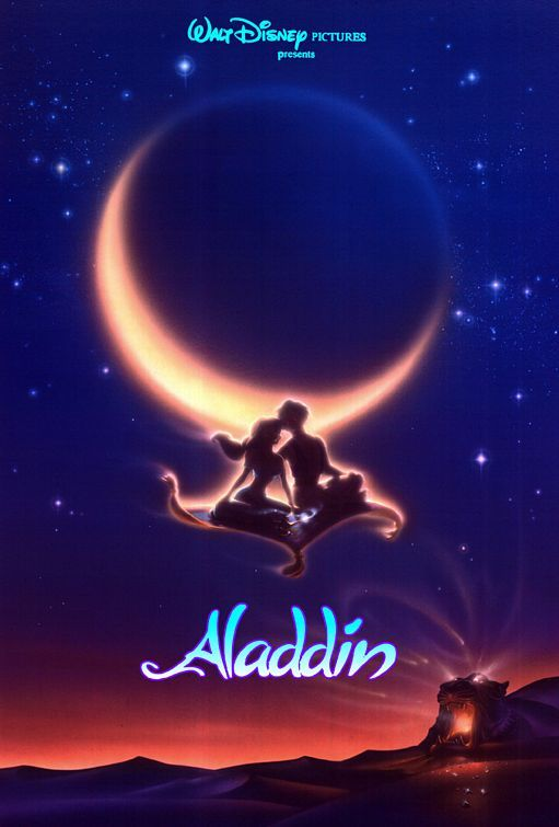 Aladdin (1992) - Forever a fan of this one!  Such great music, and that classic 2D Disney animation owns my soul.