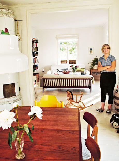 Familjen Stenfelt bor i villa - fast i lägenhet - Mama