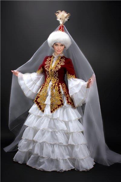 Современные казахский национальный костюм фото