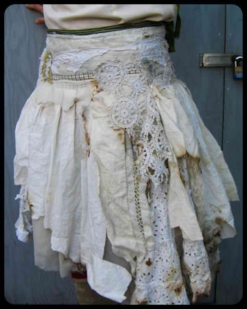 layered tattered skirt