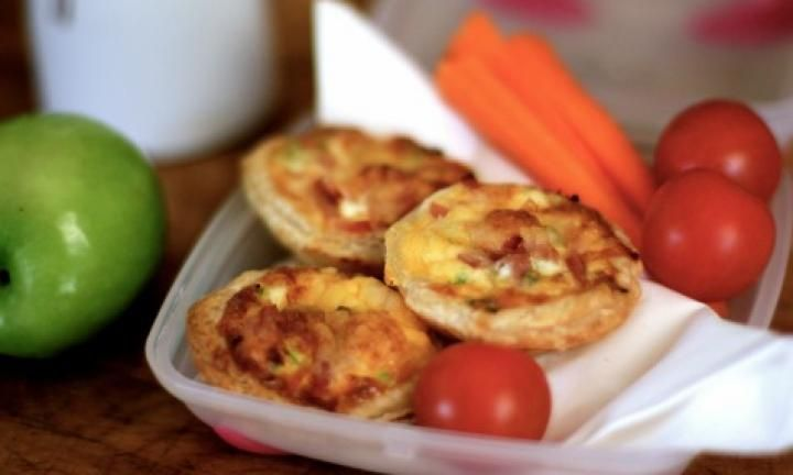 Mini ham and zucchini quiches - Kidspot