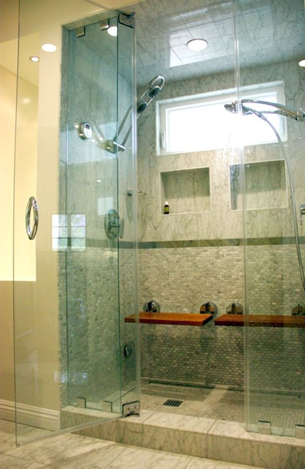 1000 ideas about double shower heads on pinterest - Angie s list bathroom remodeling ...