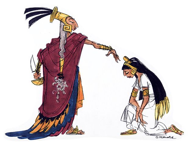 """Concept art from early draft """"Kingdom of the Sun"""" - later 'The Emperor's New Groove'"""