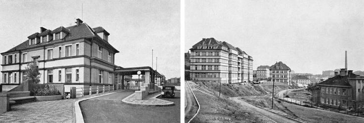 Bulovka v roce 1931 po otevření. In this hospital in Prague - nemocnice Na Bulovce - Heydrich died on 4 June, 1942.