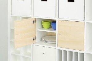 Tür Einsatz mit Regalboden im Ikea Kallax