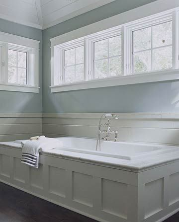 More Bathtub Tips     A platform bathtub has an unfinished exterior and drops into a supporting boxlike structure. The top or decking is usually a waterproof material such as tile, marble, or limestone, and the sides may be paneled in wood or covered in tile or stone to match the decking. Whichever type you choose, you can opt for a soaking tub or a whirlpool tub to maximize your relaxation the bath