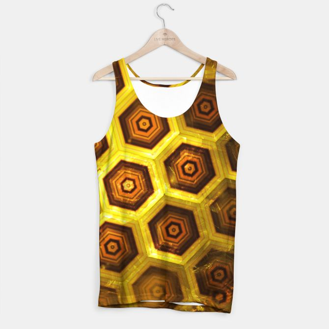 Gold Honeycombs Tank Top, Live Heroes @liveheroes by @photography_art_decor. All product: https://liveheroes.com/en/brand/oksana-fineart #fashion #clothing #online #shop #gold #golden #honeycombs #honey #bee #summer #graphic #design #geometry #geometric #yellow #metalic #bright #shine #pattern #psychedelic #abstract #metalic #sun #abstract #briht #pattern  #trendy #stylish #fashionable #modern #awesome #amazing #clothes