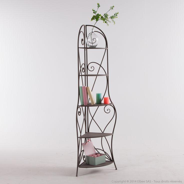 les 25 meilleures id es de la cat gorie etagere fer forge sur pinterest tag re en fer forg. Black Bedroom Furniture Sets. Home Design Ideas