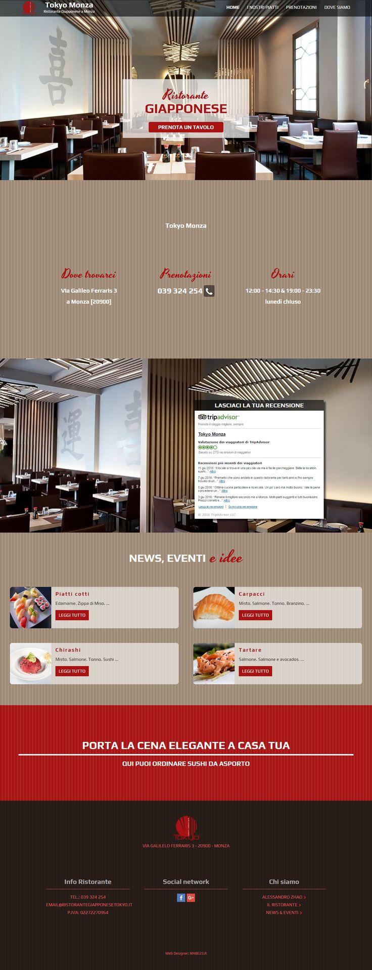 Sito web business per ristorante Tokyo. #webdesign #wordpress #webdesigner