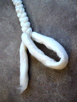 How to Braid Wool Roving or Top This will be useful to make sure it doesn't tangle