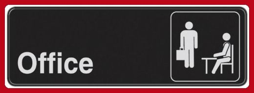 The Hillman Group 841754 3-Inch x 9-Inch Office Sign - Refine your workspace (*Amazon Partner-Link)