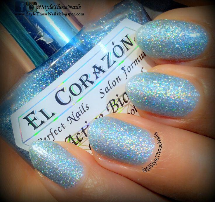 Style Those Nails: El Corzan Active Biogel Nailpolish- 423/536 Large Hologram - Swatch & Review