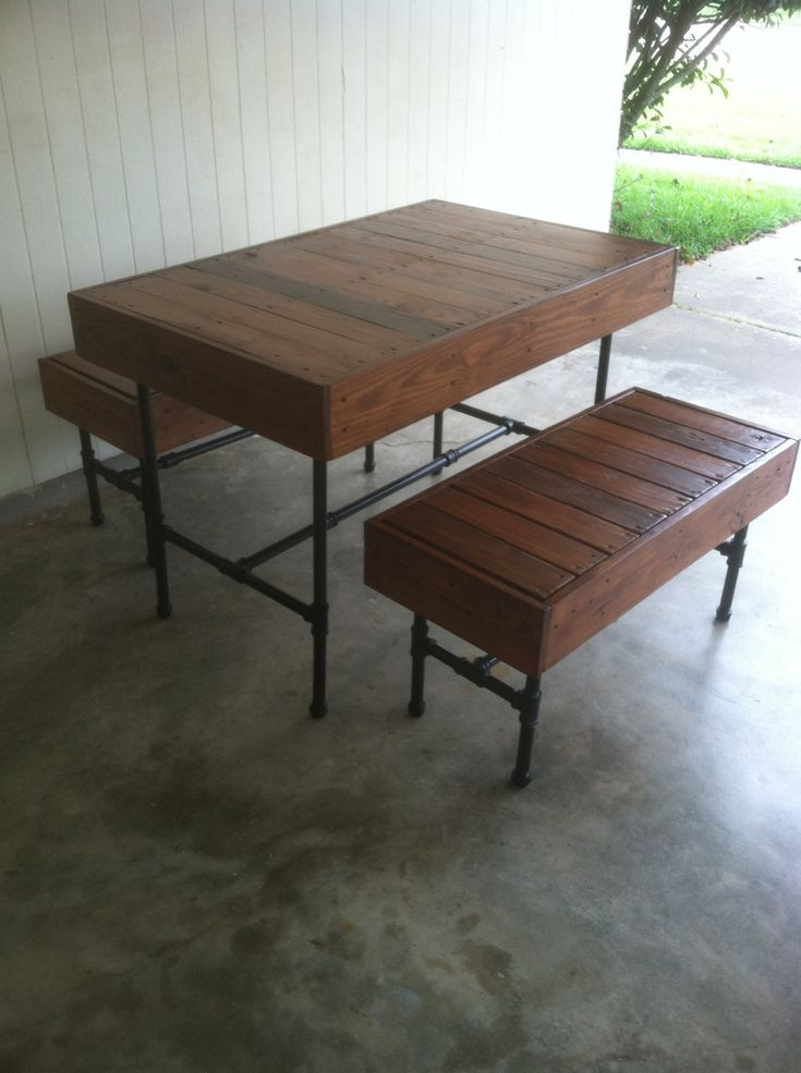 17 Best Images About Pallet Dining Table On Pinterest Vintage Style Pipes And Pallets