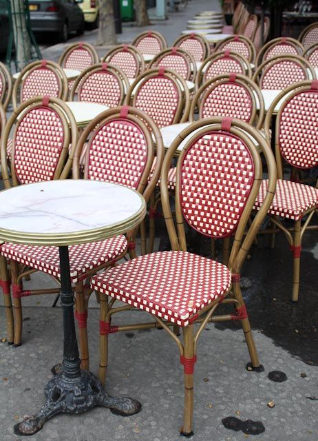 Valentine Red Paris Cafe Chairs In Red And By Rebeccaplotnick