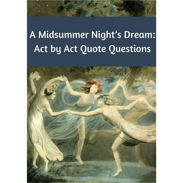 One way to gauge your student's understanding of this Shakespearean comedy is by quizzing them on each act. You may wish to ask the questions following each act, quiz them on the entire play at the end or combine the two assessments.