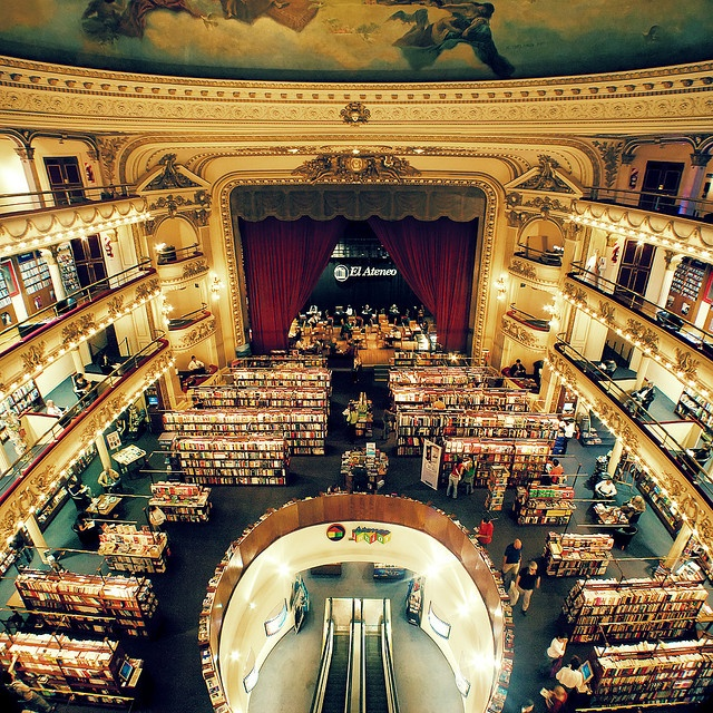 El Ateneo in Buenos Aires, Argentina. This bookstore was once a theater named…