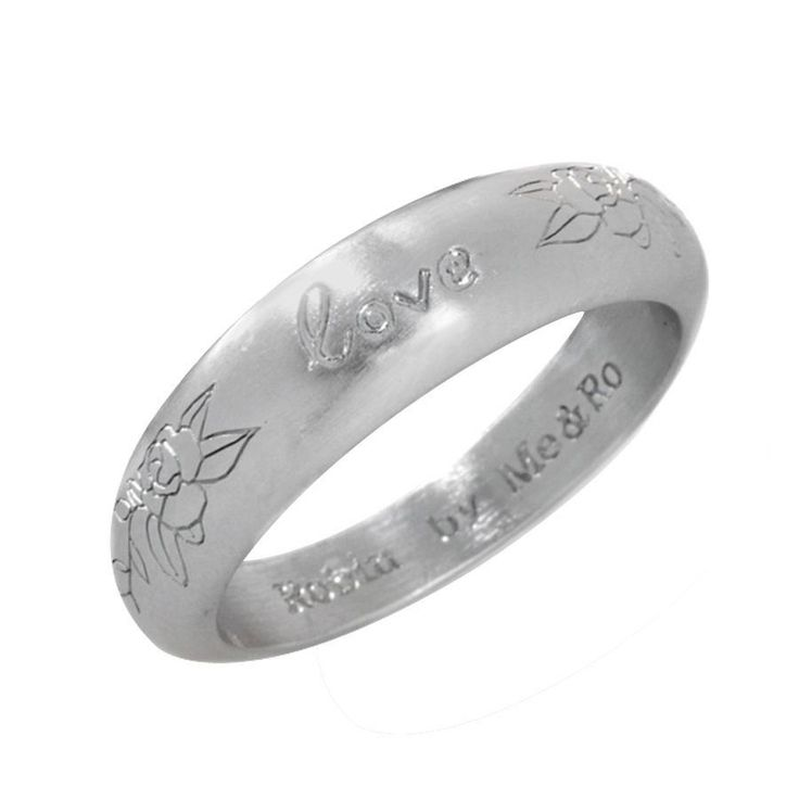 Robin by Me&Ro White Gold GP Stackable Love Band Ring Size 6 #RobinbyMeRo #Band