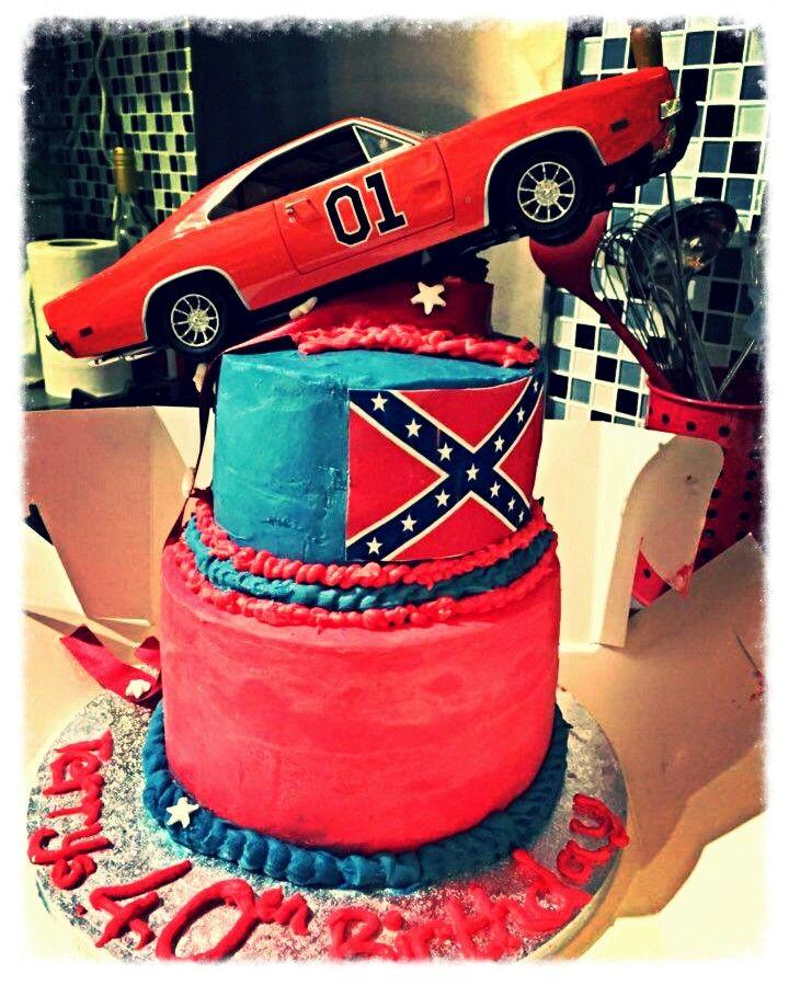 Dukes of hazzard cake. All ganached No bake cake, 40th