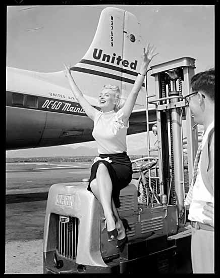 Marilyn Monroe at Vancouver Airport 1953 - VPL Accession Number: 62485