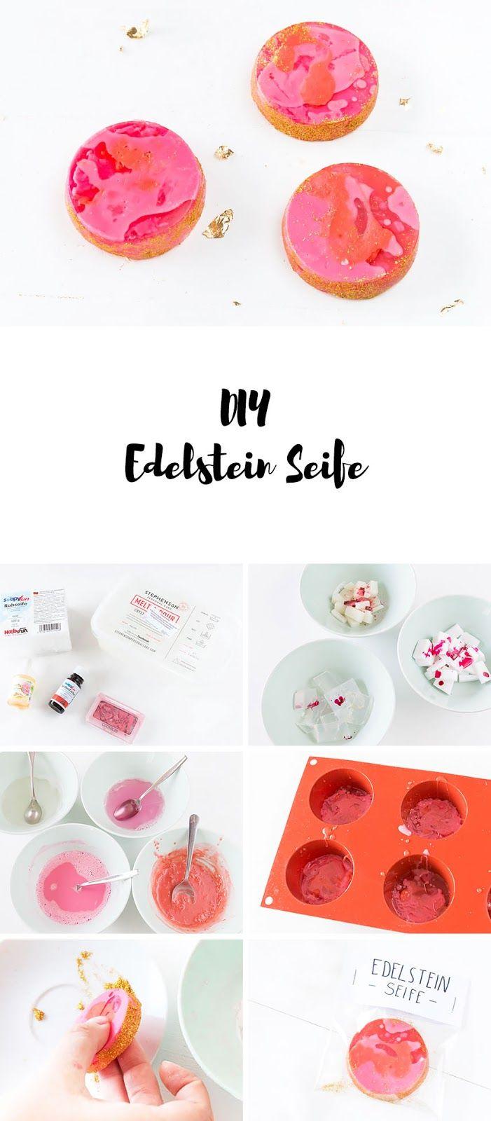Edelstein Seife selber machen - ein schönes DIY Geschenk