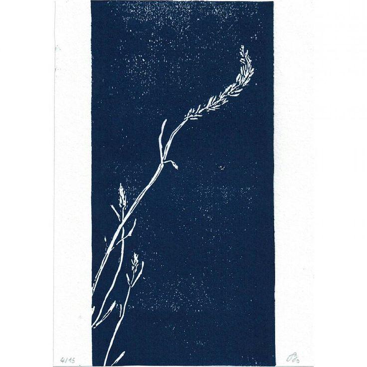#linocut #printmaking #blue #lavender