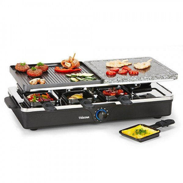 TRISTAR RA2992 RACLETTE WITH METAL AND STONE GRILL - Geeks Buy Gadgets