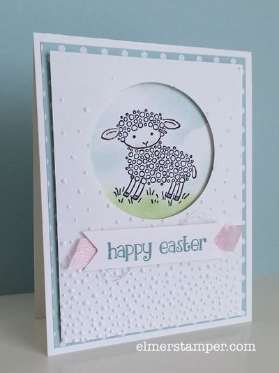 Cuteness!!!! Adorable Easter card featuring Stampin' Up!s Easter Lamb stamp by Kristin Kortonick:
