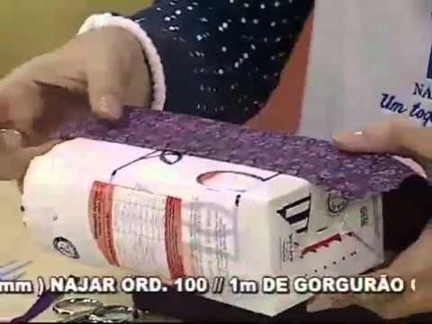 Sacolinha com Caixa de Leite por Priscila Cunha