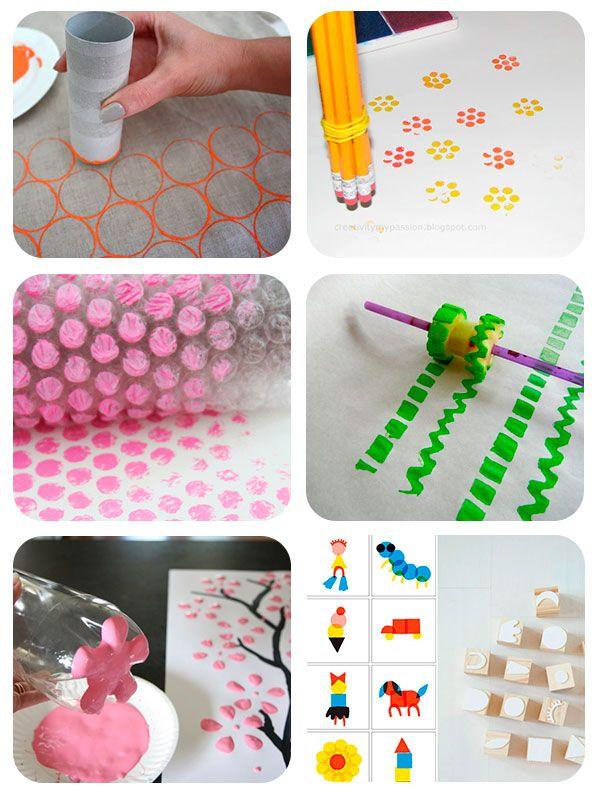 Manualidades para niños: sellos caseros para niños