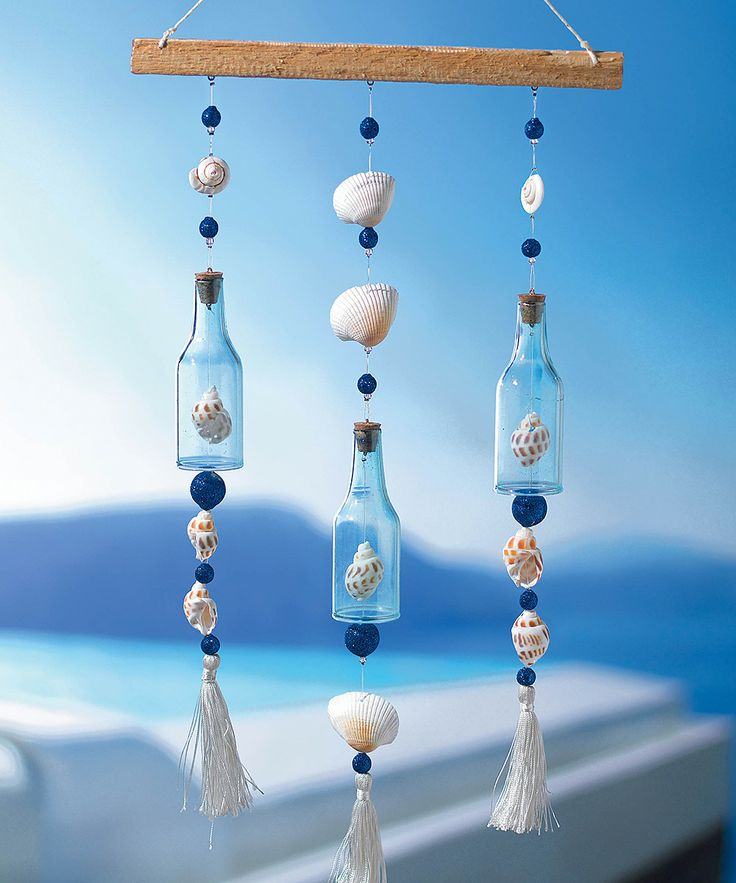 Bottle & Shell Sun Catcher | 드림캐쳐 | Pinterest