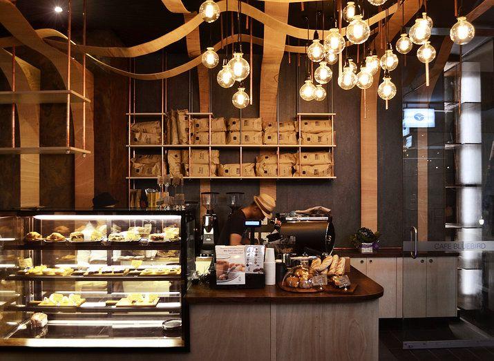 BLUEBIRD CAFE, SYDNEY; BY ORO design