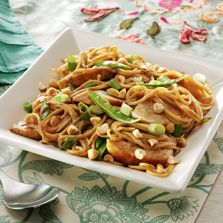 Cold Peanut Noodles With Chicken #thinkfisher http://www.fishernuts.com/recipes/entrees/Cold-Peanut-Noodles-With-Chicken