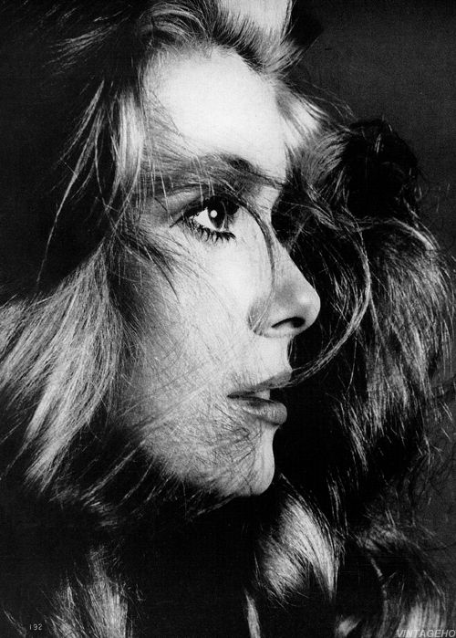 Catherine Deneuve by Richard Avedon for Vogue, December 1968.
