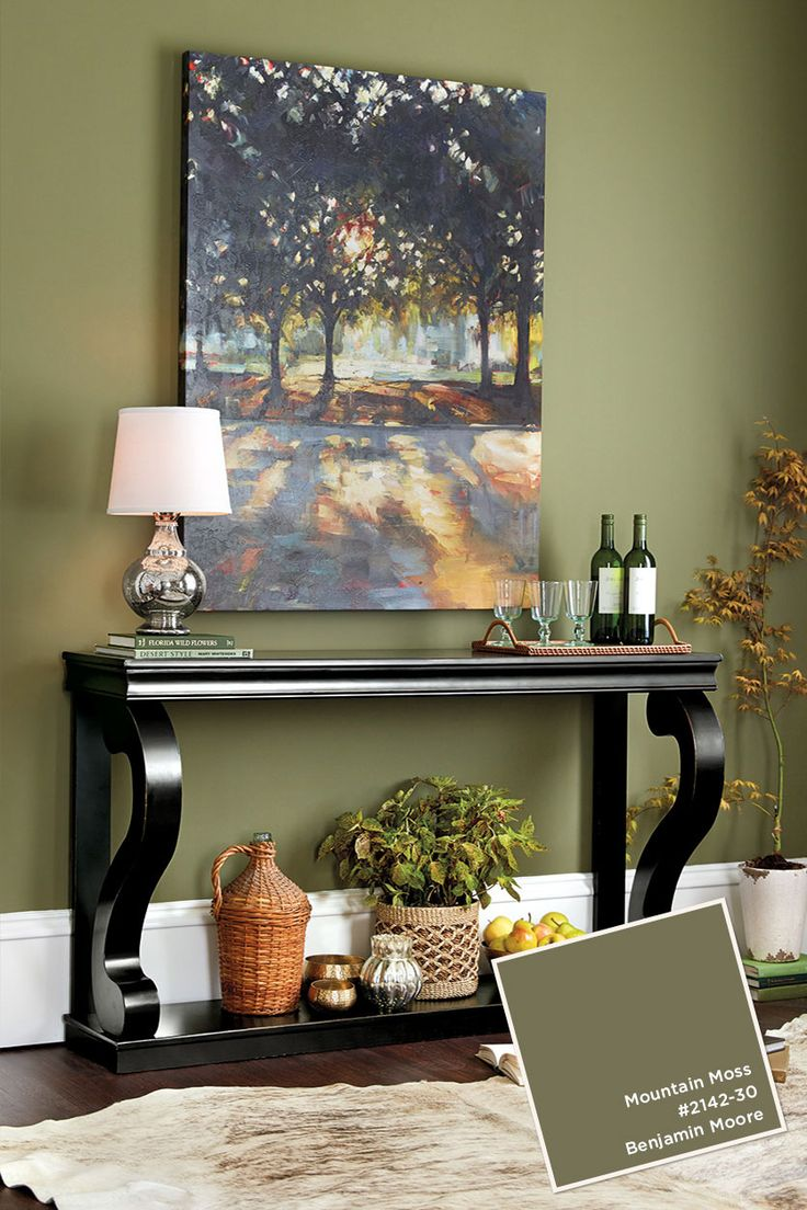 Benjamin Moore's Mountain Moss...I miss my green walls                                                                                                                                                                                 More