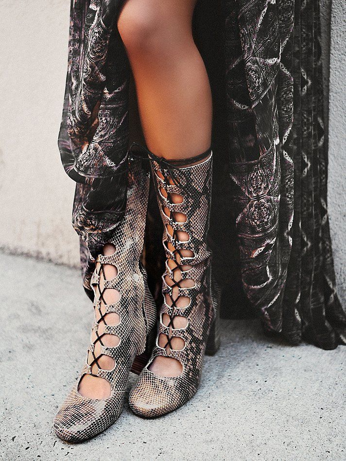 Free People Carly Lace Up Heel Boot, $99.95